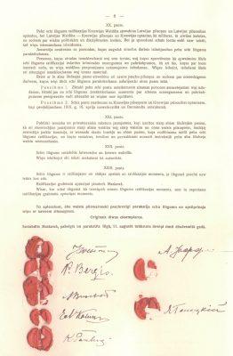Foto: Riia rahulepingu allkirjadega leht