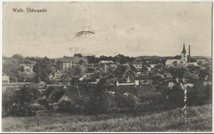 Postkaart Valga linnast 1924. Foto: Rahvusarhiiv