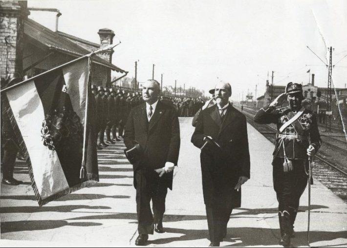 Läti president Alberts Kviesis Balti jaamas. Foto: Rahvusarhiiv