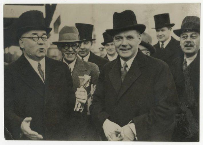 Edgars Krieviņš ja Vilhelms Munters Tallinnas 1936. aastal. Foto: Rahvusarhiiv