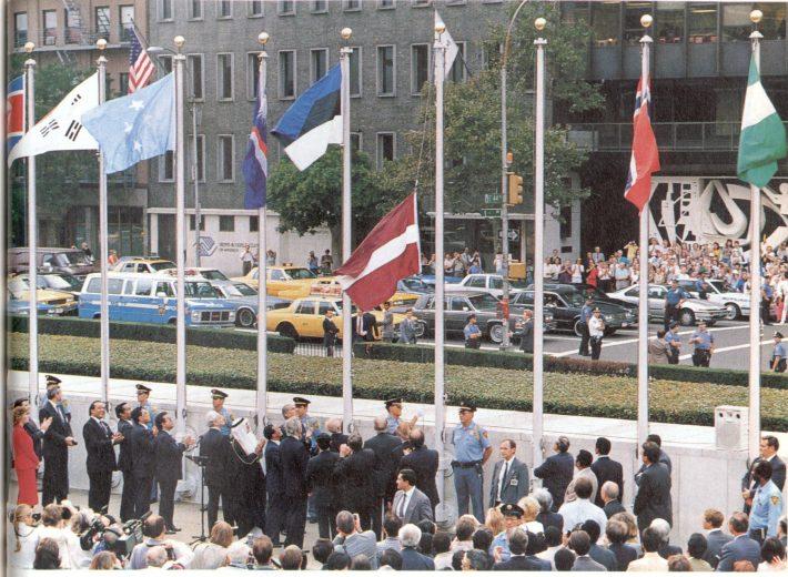 Liputseremoonia New Yorgis. Foto: välisministeeriumi arhiiv