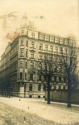 Eesti saatkonna hoone Riias Skolas iela 13 vanasti. Foto: välisministeeriumi arhiiv