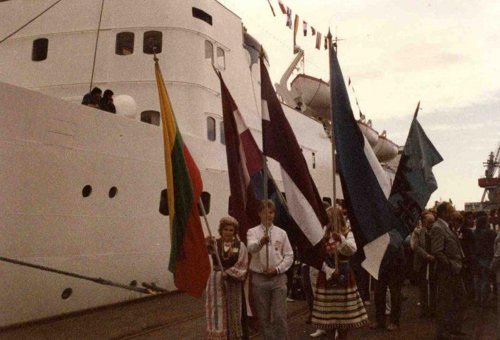 Balti Vabadusristlus Läänemerel 29. juuli 1985. Foto: Läti Rahvusarhiiv