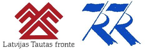 1988 Läti ja Eesti Rahvarinnete logod